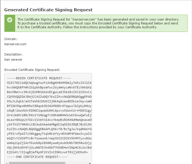 Generate Certificate Signing Request